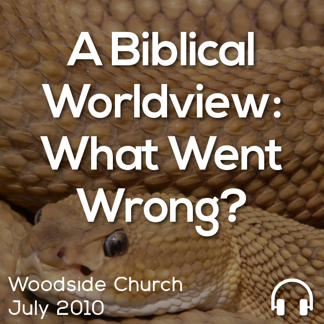A Biblical Worldview: What Went Wrong?